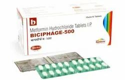 Metformin 500 Mg Biciphage 500 MG Tablet, Packaging Type: Strip for Personal