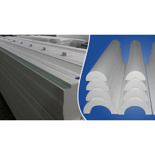 White EPS Thermocol Pipe Section