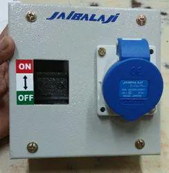 Jaibalaji Steel 16 Amps 3 Pin Metal Box