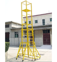 Yellow Single Width Mobile Scaffold Towers