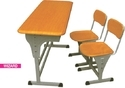 Wooden Powder Coated School Furniture Desk Chair Two Seater Classroom Adjustable