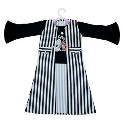 Bleck and whit striped Nitted Baby Girls Palazzo Set, Handwash