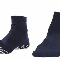 Pedder Johnson Gents Ankle Length Navy Blue Nofall Socks