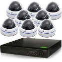 8 HD-CVI Complete Security IR Dome Camera system