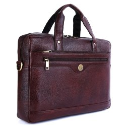 Plain Mens Purple Leather Messenger Bag