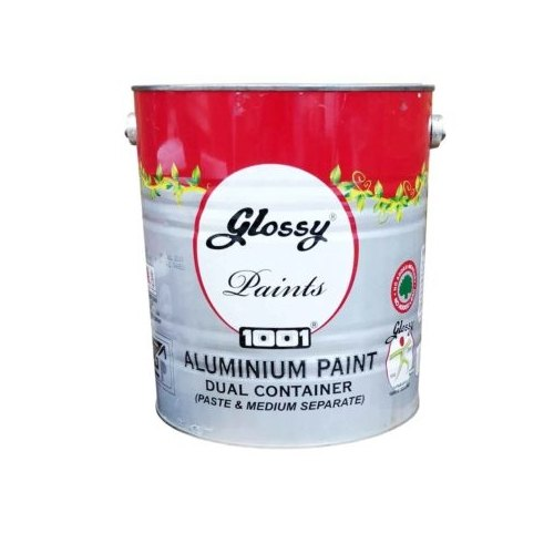Lustrious and Finish Glossy 4 Ltrs Heat Resisting Aluminium Paint