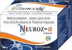Mecobalamin, Alpha Lipoic Acid, Folic Acid, Vitamin B1, Pyridoxine HCL Capsules