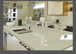 Polished Pacifica Brand Quartz For Usa - Ashmont Beige, Slab