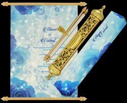 Portrait Fabric Royal Scroll Invites, 1