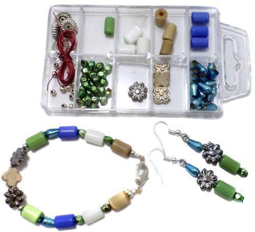 57b0276724eb5 Bracelet Earring Making Kids Diy Kit, Art And Crafts Jewelry Making Kit