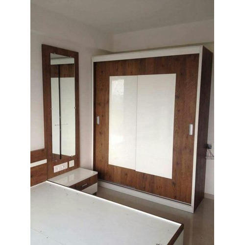 Brown And White Wooden Bedroom Wardrobe, Rs 1200 /square feet ...