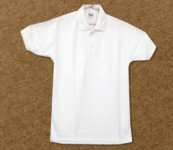 Collar Plain Corporate Wear Polo Honeycomb T-Shirt White, Size: Large