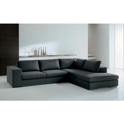 5 Seater Black Sofa Set