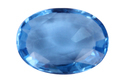Swiss Blue Topaz Oval Shape Undrilled Loose Gemstone
