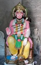 Marble Hanuman Coloured Idol