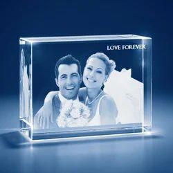 large Cube Shape 3D Crystal