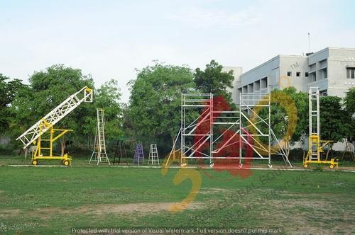 Silver Aluminum Scaffolding and Ladders