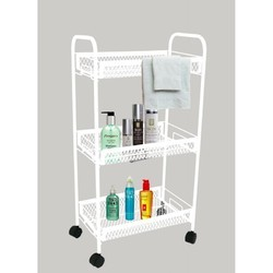 White Antique Look Home Storage Trolley