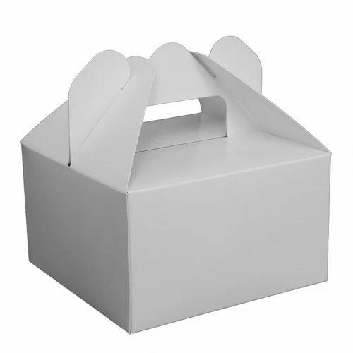 c240d0c655c 8X8 Inch Handle Cake Packaging Box