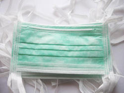 Green Surgical Face Mask TIE ON