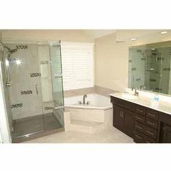 Transparent Bathroom Plain Cabin Glass