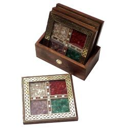 Gems Stone T-Coaster Set