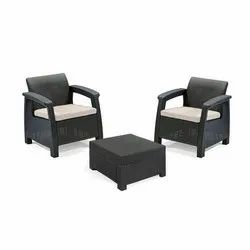 Outdoor Two Seater Rattan Set
