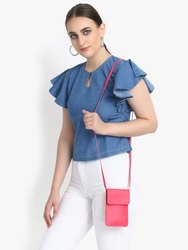 Sling Mobile Pouch in Pink