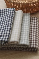 Organic Cotton Yarn Dyed Gingham Checks Fabric
