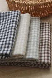 Organic Cotton Yarn Dyed Gingham Checks Fabric