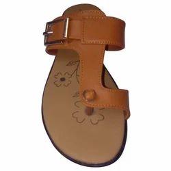 Brown Comfortable Ladies Flat Footwear