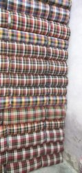 Cotton Boxer Check Fabric, Waves, Multicolour