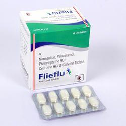 Nimesulide, Paracetamol Phenylephrine HCI Cetirizine HCI and Caffeine Tablets