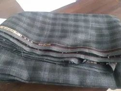 Checked Suiting Fabric, For Garments, GSM: 200-300 GSM