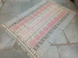 Multi Color Cotton Room Rug Handmade Floor Rug Carpet Mat Block Printed