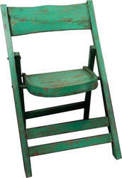 Green Foldable Wooden Chair