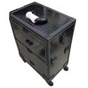 Black Leather Vanity Case With Trolley