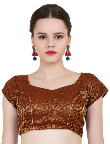 ND&R Princess Seam  Printed Chanderi Saree Blouse