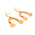 Gold Plated Long Studs Women Wedding Earrings