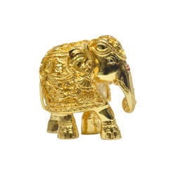 Gold Plated Elephant Size 5 Statues