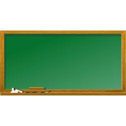 Rectangular Green Chalk Board