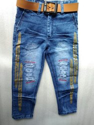 Boys Printed Denim Jeans