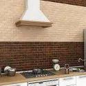 Brick Wood Beige Kitchen Tiles