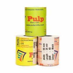PULP POS Billing Rolls 54-57 mm width Black Impression 50 GSM