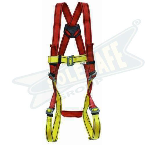 """Adjustable size 30/""""- 55/"""" 2 D-Rings Safety Belt Blue // Yellow"""