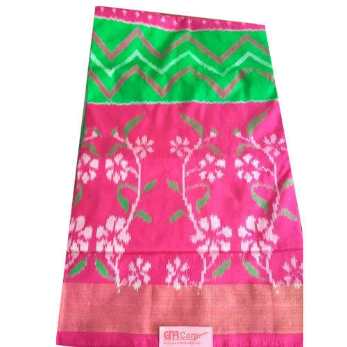 4610c886a0047e Casual Wear Printed Ikkat Pattu Saree