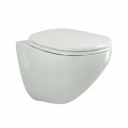Closed Front White Parryware Cardiff Wall Hung Toilets, 520 x 360 x 375mm