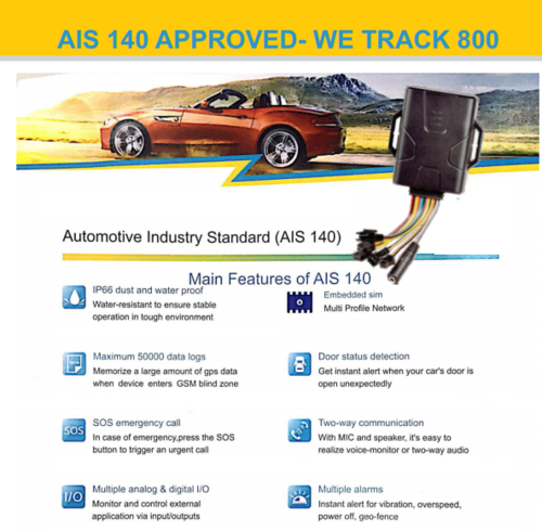 Wetrack 800 - AIS140 Certified | Shoolman Technologies Private
