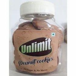 Kanbro Unlimit Peanut Cookies - No Maida And No Sugar - Millet Cookies, Packaging Size: 150G