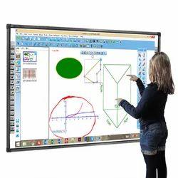 IBIZZ White Finger Touch Digital Interactive Smart Whiteboard, Board Size: 82 Inch